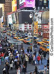 nieuw, tijden, york, square., stad