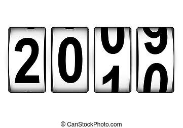 nieuw, toonbank, jaar