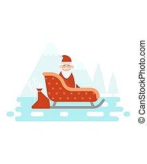 nieuw, topic., kerstmis viering, jaar