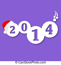 nieuw, vector, 2014, jaar
