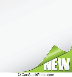 nieuw, vector, groene, hoek