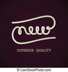 nieuw, vector, ontwerp, mal, calligraphic
