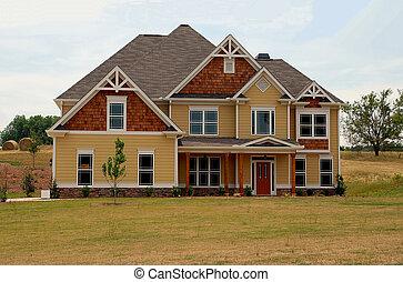nieuw, verkoop, thuis