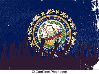 nieuw, vlag, publiek, hampshire, staat
