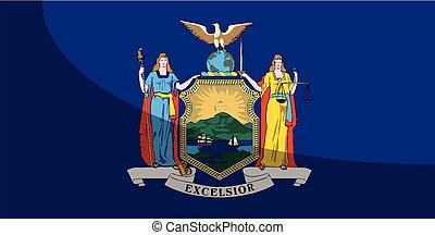 nieuw, vlag, schaduw, staat, york