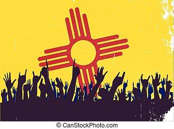 nieuw, vlag, staat, publiek, mexico