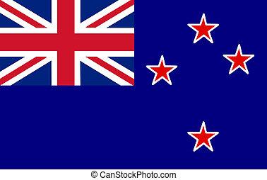 nieuw, vlag, zeeland