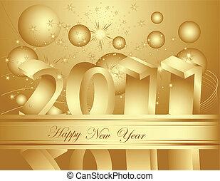 nieuw, vrolijke , 2011, achtergrond, jaar