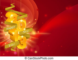 nieuw, vrolijke , 2013, decoraties, jaar