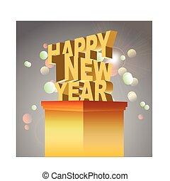 nieuw, vrolijke , 2014., jaar