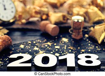 nieuw, vrolijke , 2018, jaar