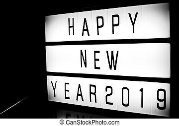 nieuw, vrolijke , 2019, jaar