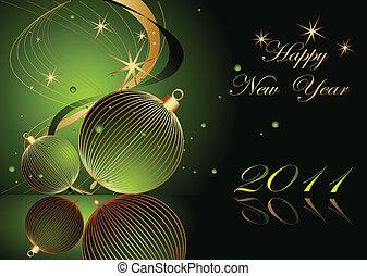 nieuw, vrolijke , achtergrond, jaar