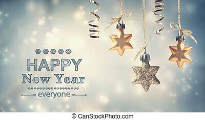 nieuw, vrolijke , everyone!, jaar