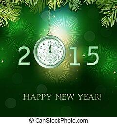 nieuw, vrolijke , illustratie, jaar