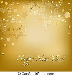 nieuw, vrolijke , kaart, jaar