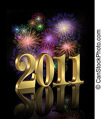nieuw, vuurwerk, 2011, jaar