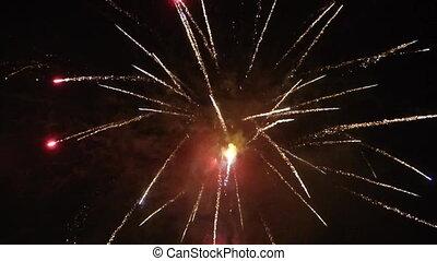 nieuw, vuurwerk, jaar