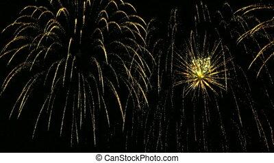 nieuw, vuurwerk, jaar, viering