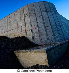 nieuw, wegenbouw, beton