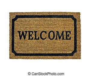nieuw, welkom, vrijstaand, doormat