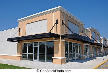 nieuw, winkelcentrum