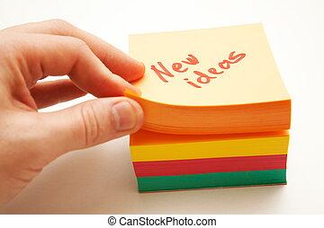nieuwe ideeën