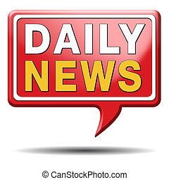 nieuws, alledaags, pictogram