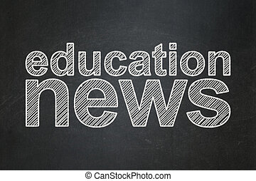 nieuws, concept:, opleiding, nieuws, op, chalkboard, achtergrond