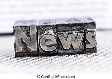 nieuws, in, lood, brieven