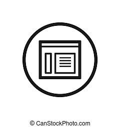 nieuws, lijn, witte achtergrond, pictogram