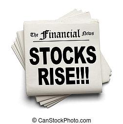 nieuws, rijzen, financieel, aandelen