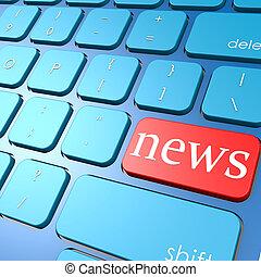 nieuws, toetsenbord