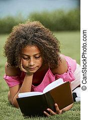 nieuwsgierig, girl lezen, literatuur