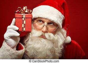 nieuwsgierig, kerstman