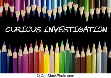 nieuwsgierig, onderzoek