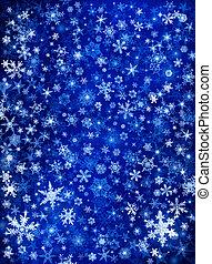 nieve azul, ventisca