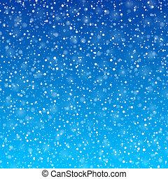 nieve, caer