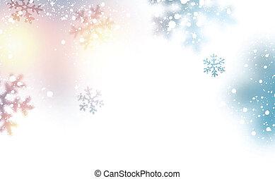 nieve, navidad, fondo.