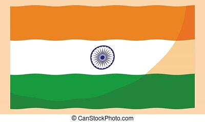 niezależność, celebrowanie, bandera, indie, dzień