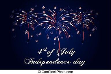 niezależność, szczęśliwy, dzień, tło