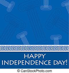 niezależność, szczęśliwy, grek, day!