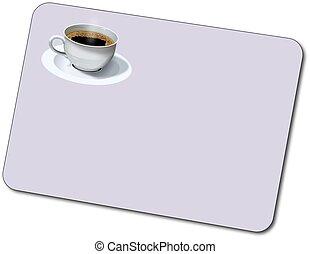 niezidentyfikowany, plastyk, kawa, karta