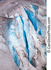 Nigardsbreen glacier in summer, Norway