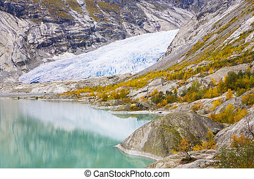 nigardsbreen, glacier, national, jostedalsbreen, parc, ...