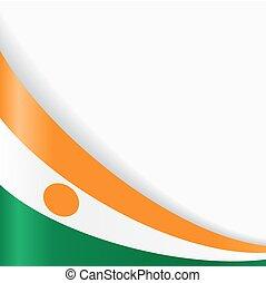 Niger flag background. Vector illustration. - Niger flag...