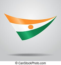 Niger flag background. Vector illustration. - Niger flag...