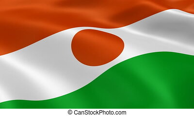 Niger flag in the wind