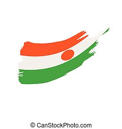 Niger flag, vector illustration on a white background