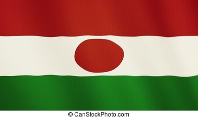 Niger flag waving animation. Full Screen. Symbol of the country.